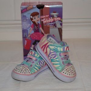 Twinkle Toes by Sketchers Light Up Sneakers Size 5